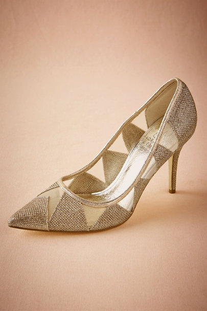 Adrianna Papell Gold Vanna Pumps | BHLDN