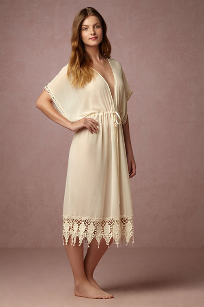 James Coviello Creme Mystic Bohemian Robe | BHLDN