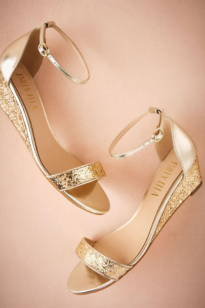 Billy Ella Gold Cristal Wedges | BHLDN