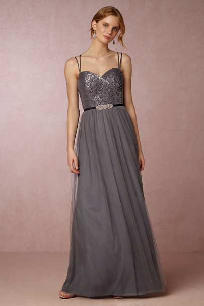 Watters Pewter Isadore Dress | BHLDN