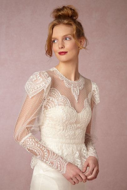 Watters Ivory Lilith Topper | BHLDN