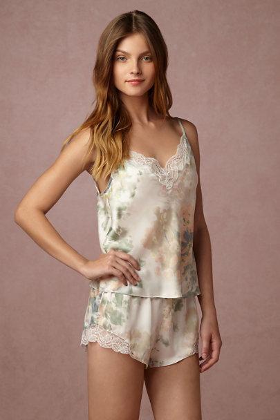 c542ff6e6b9 Jenny Yoo Ivory Sage Whispering Blooms Cami   Shorts Set
