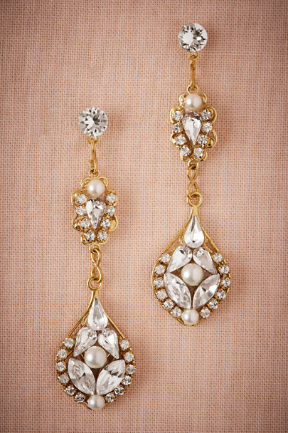 Gold Lucinda Drop Earrings | BHLDN