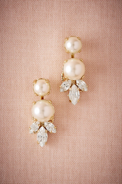 Anton Heunis Gold Pearl Cirque Earrings | BHLDN