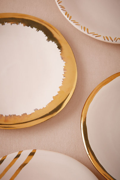 Gold Gilded Gold Plates (4) | BHLDN