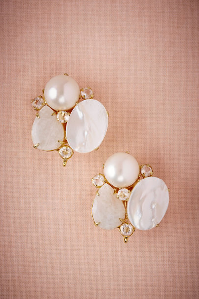 Bounkit Gold Moonbeam Cluster Earrings | BHLDN