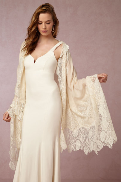 Kashmir Box Ivory Aletta Wrap | BHLDN