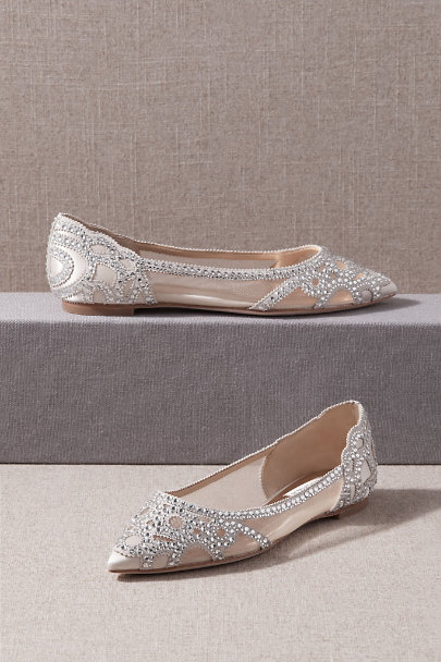 Badgley Mischka Ivory Badgley Mischka Gigi Flats | BHLDN