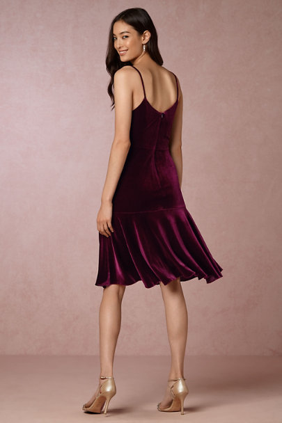 Yoana Baraschi Burgundy Marinet Dress | BHLDN