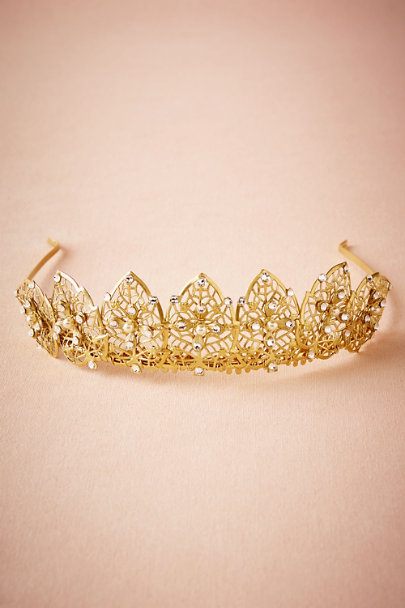 Paris by Debra Moreland Gold Francesca Tiara | BHLDN