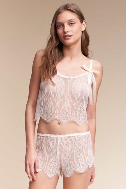 Hanky Panky Ivory Alimendra Lace Camisole | BHLDN