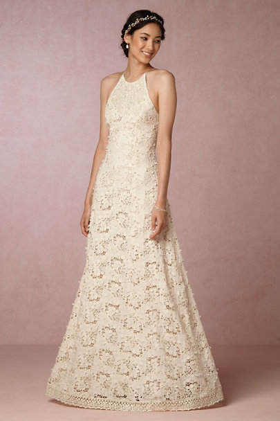 Payal Jain Cream Nimah Dress | BHLDN