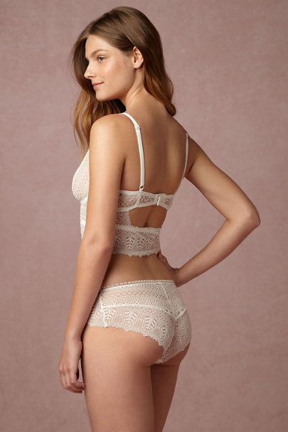 Ivory Pamelina Lace Brief | BHLDN