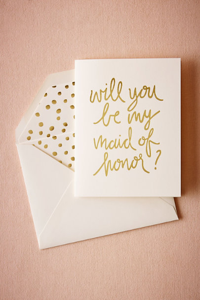 Maid of Honor Foil Script Card | BHLDN