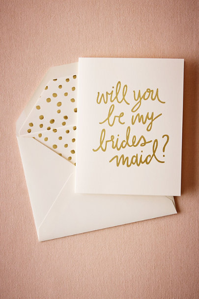 Bridesmaid Foil Script Card | BHLDN