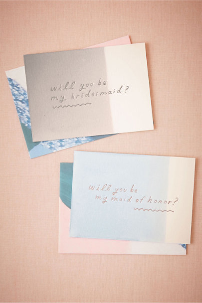 Moglea Bridesmaid Dipped Be My Maids Card | BHLDN