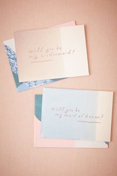 Maid of Honor Dipped Be My Maids Card | BHLDN