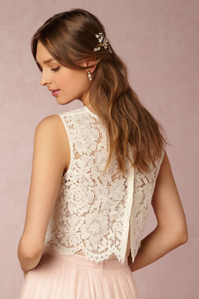 Jenny Yoo Ivory Cleo Top | BHLDN