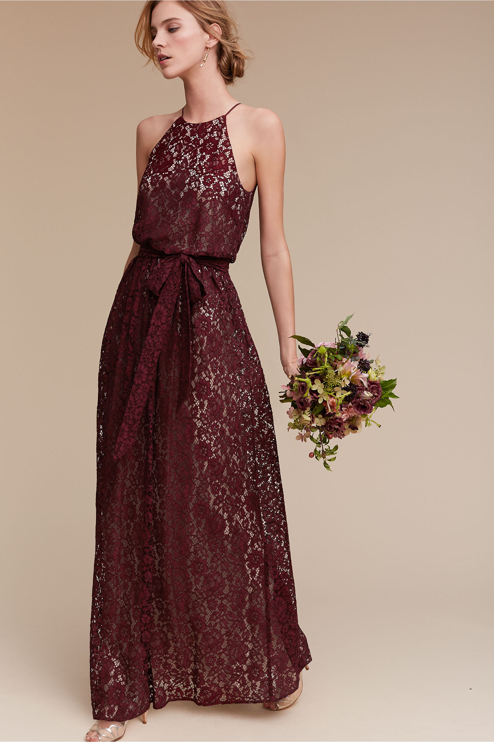 Donna Morgan Black Cherry Alana Dress Bhldn