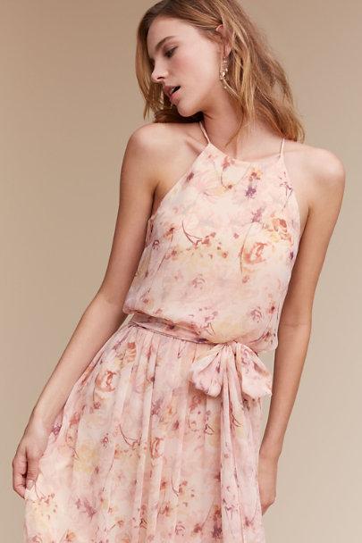 0807a248c3e26 Donna Morgan Blush Wildflower Alana Dress | BHLDN ...