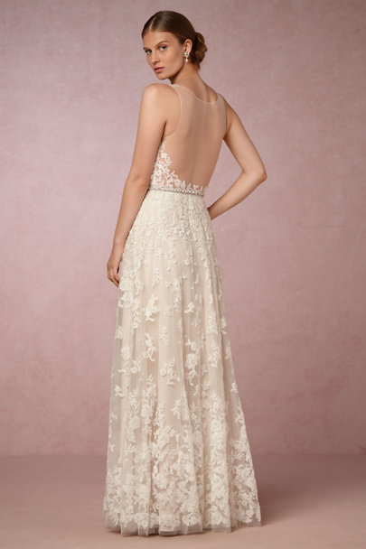 Watters Ivory/Cream Blaire Gown | BHLDN