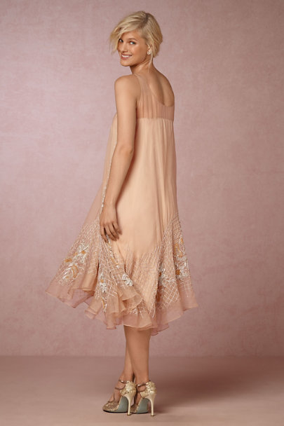 Pallavi Mohan Palest Apricot Taite Dress | BHLDN