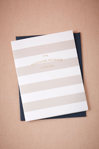 Sugar Paper White Handsome Husband Card | BHLDN