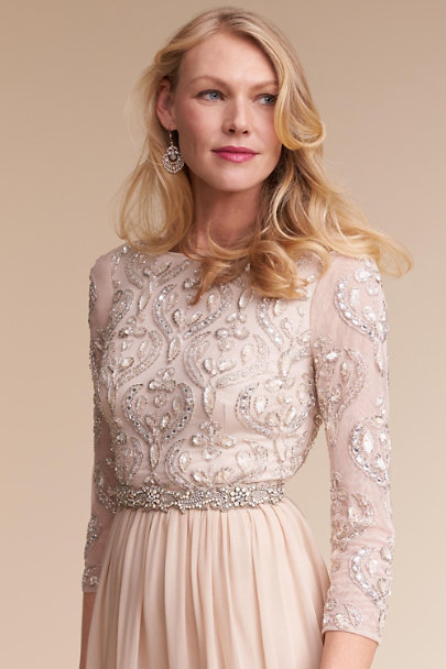 Aidan Mattox Champagne Giada Dress | BHLDN