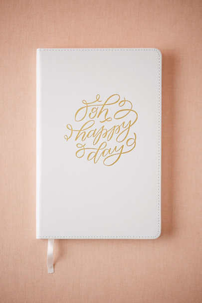 White Memories of Us: A Prompted Wedding Journal | BHLDN