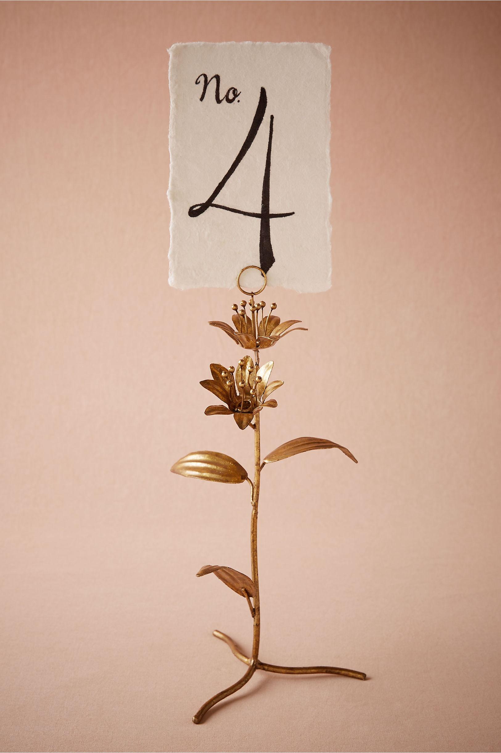 Bronze Secret Garden Number Holder Bhldn