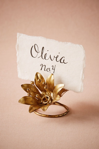 Bronze Secret Garden Card Holder | BHLDN