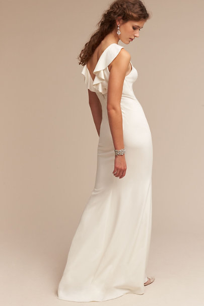 Badgley Mischka Ivory Heather Gown | BHLDN