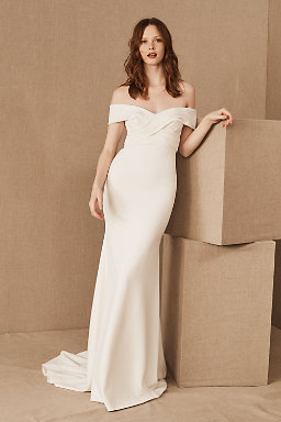 Sheath column wedding dresses bhldn for Beholden wedding dresses