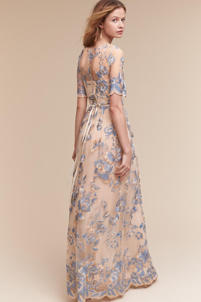 Adrianna Papell Thundercloud / Gold Guilia Dress | BHLDN