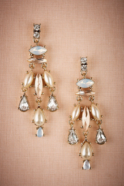 Gold Wythe Chandelier Earrings | BHLDN