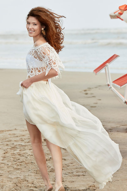 Catherine Deane Ivory Agatha Skirt | BHLDN