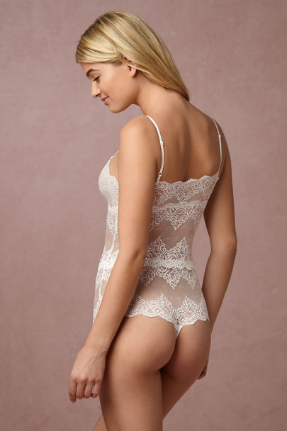 Only Hearts Ivory Lola Bodysuit | BHLDN