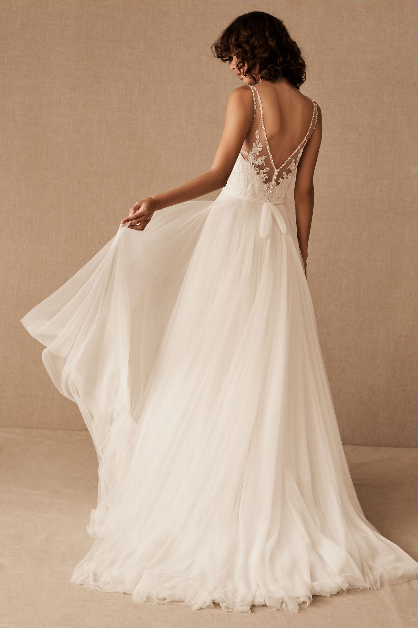 Cassia Gown Ivory/Champagne in Bride | BHLDN