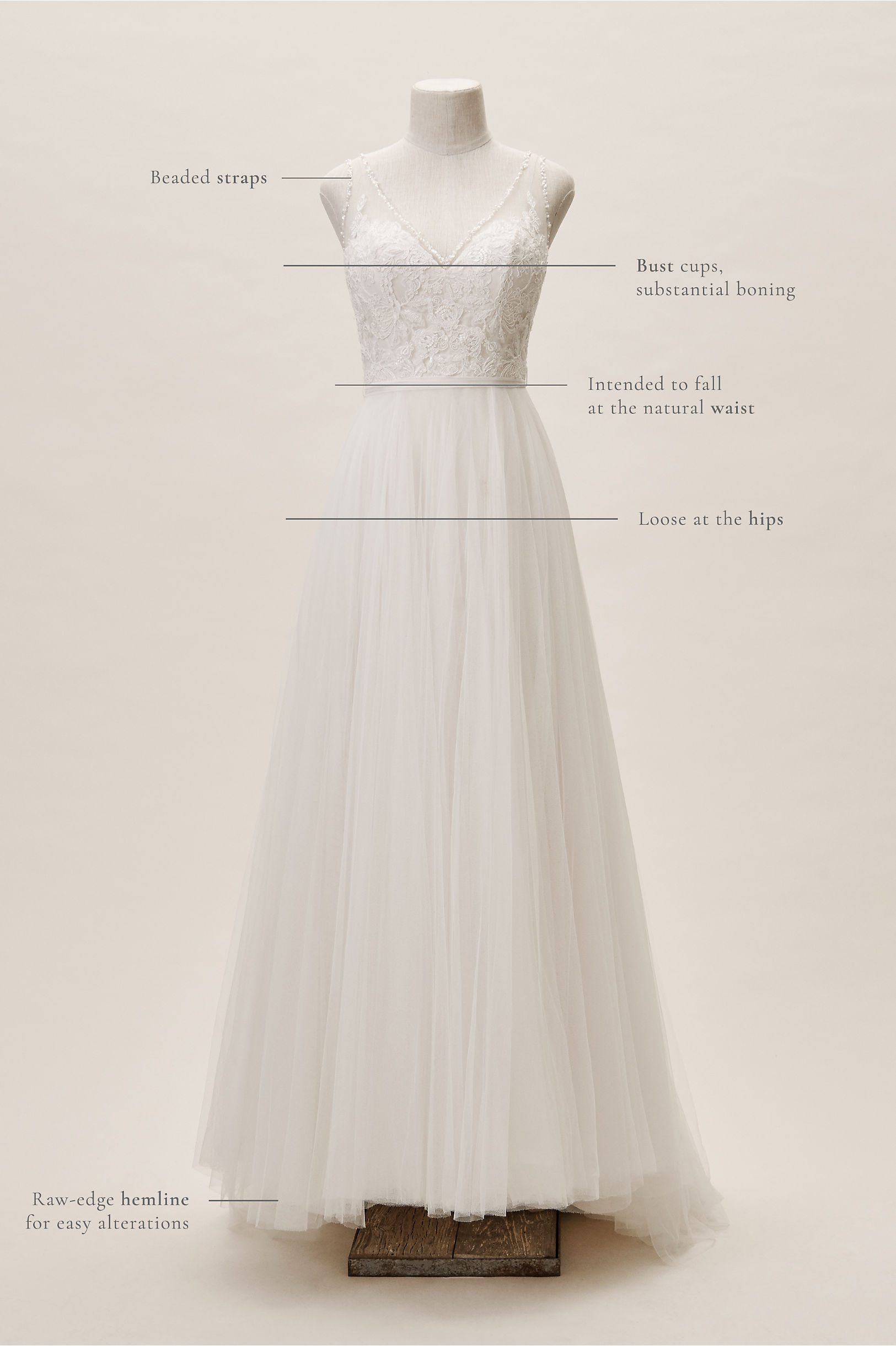9c0a4b706bd7 Cassia Gown Ivory Champagne in Bride