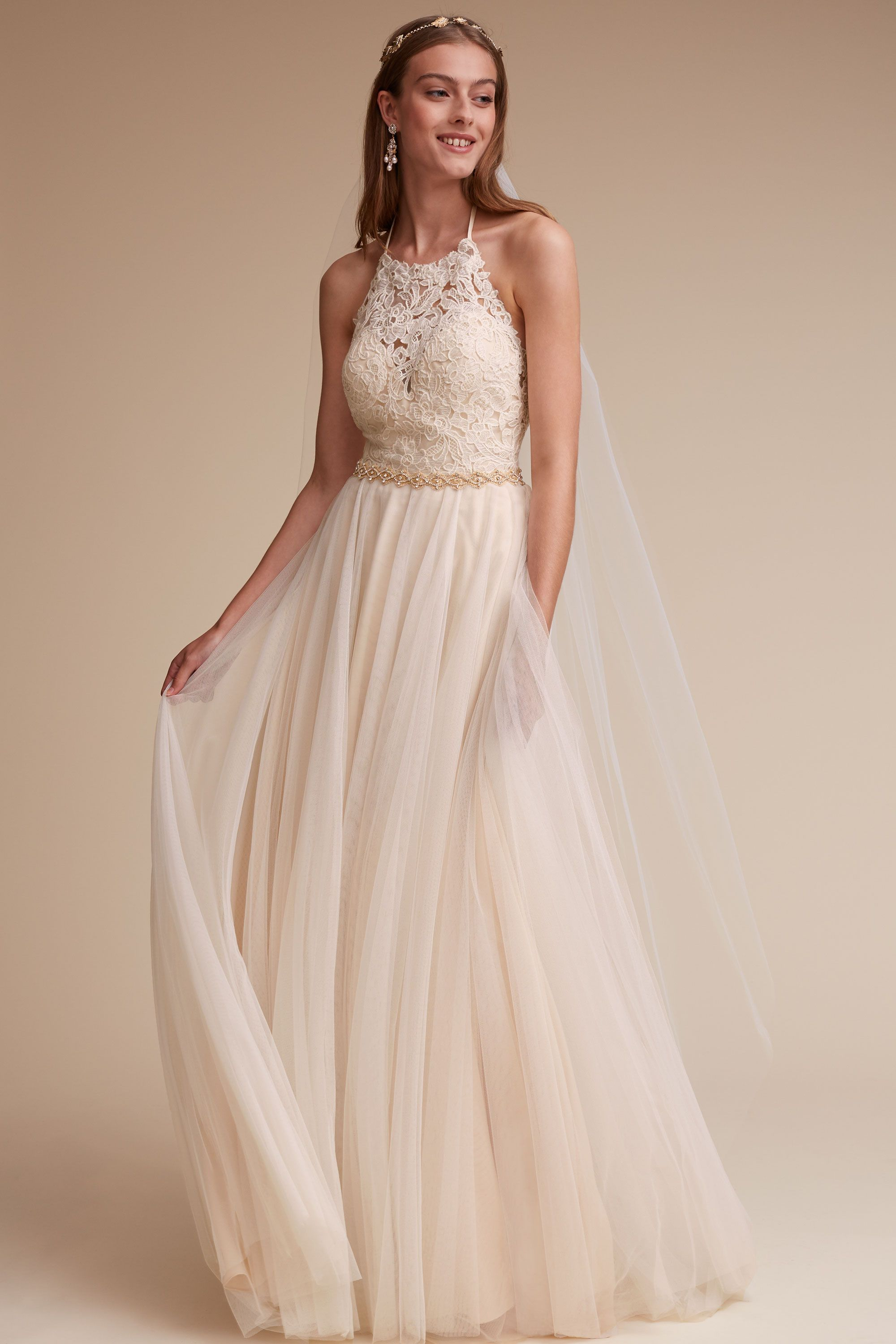 Backless Wedding Dresses Low Back Wedding Gowns BHLDN