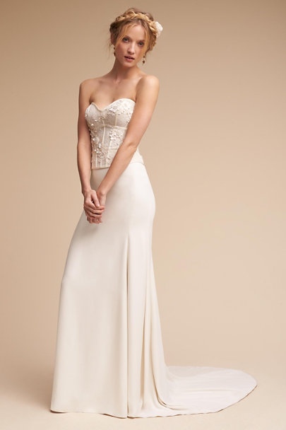 Watters Ivory Maryna Corset Top | BHLDN