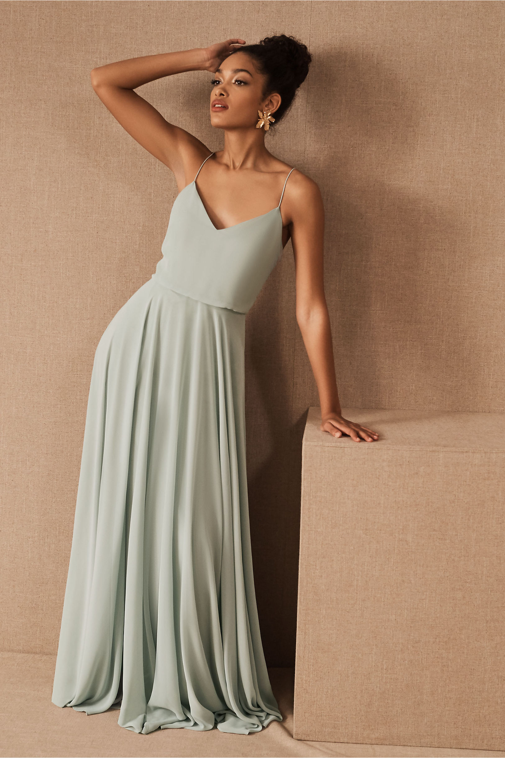 Inesse dress cinnamon rose in bridal party bhldn morning mist inesse dress bhldn ombrellifo Images