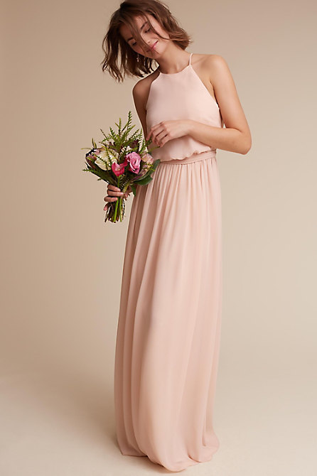 Alana Dress Blush In Sale Bhldn