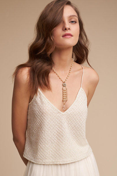 Lotus Threads Ivory Cailey Top | BHLDN