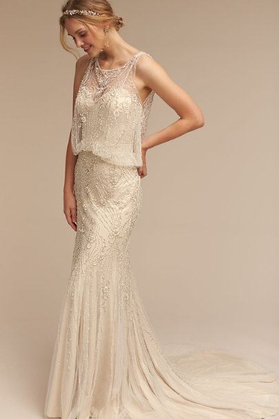 Jacinda Gown Ivory Champagne In Sale Bhldn