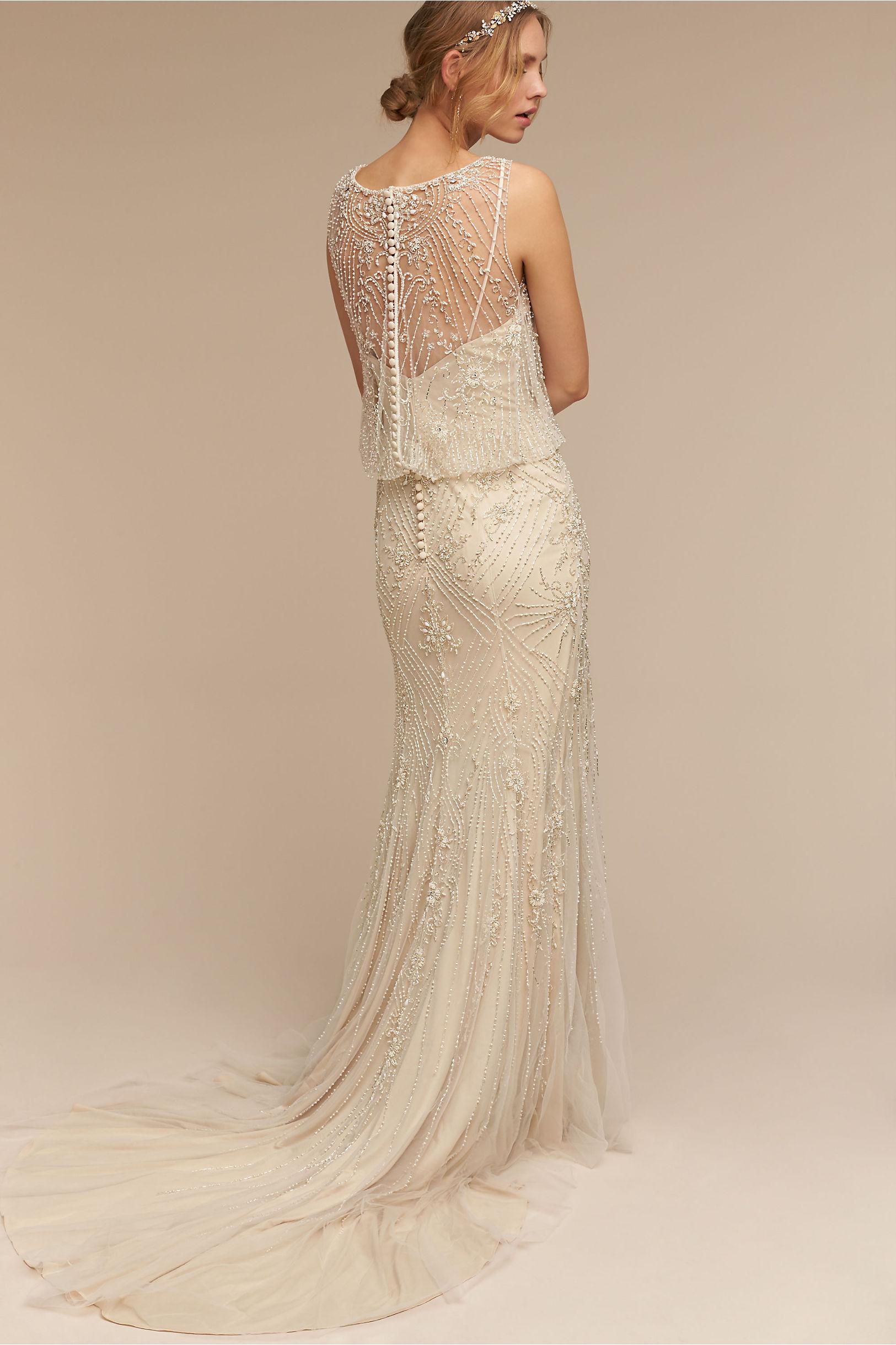 Jacinda Gown Ivory/Champagne in Bride | BHLDN