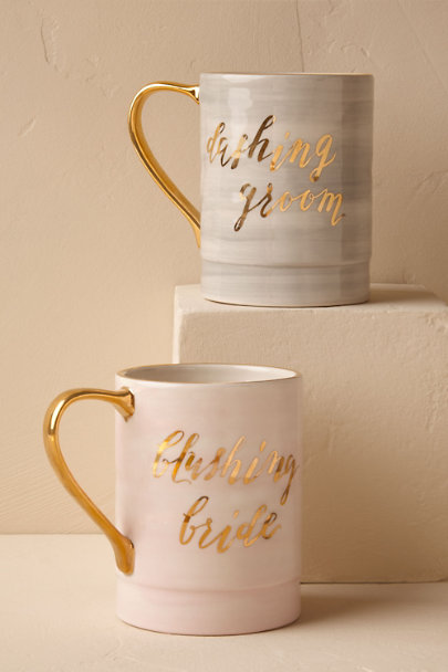 Groom Blushing Newlywed Mug | BHLDN