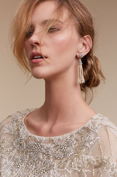 Ben-Amun Silver Theda Tassel Earrings | BHLDN