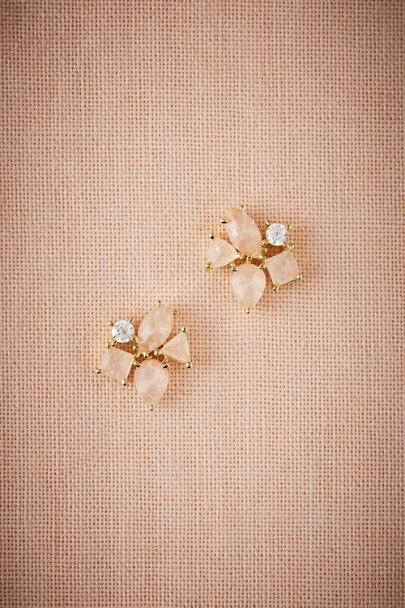 Gold Blushing Petal Earrings | BHLDN