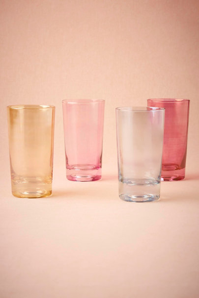 Multi Stained Glass Highball Glasses (4) | BHLDN